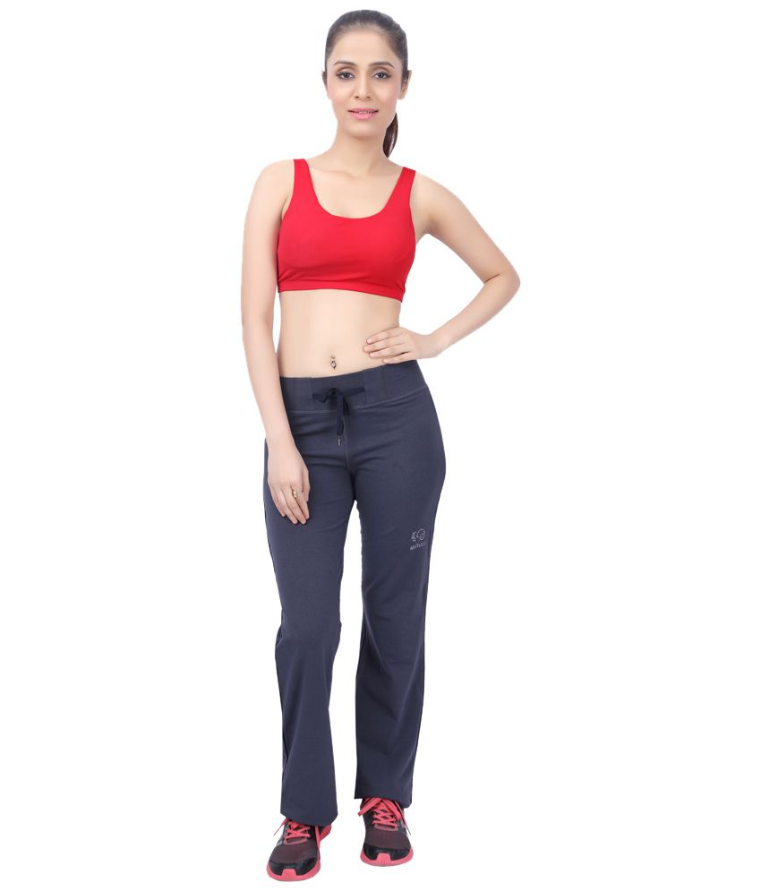 Restless Gray Stretchable Sports Trackpants