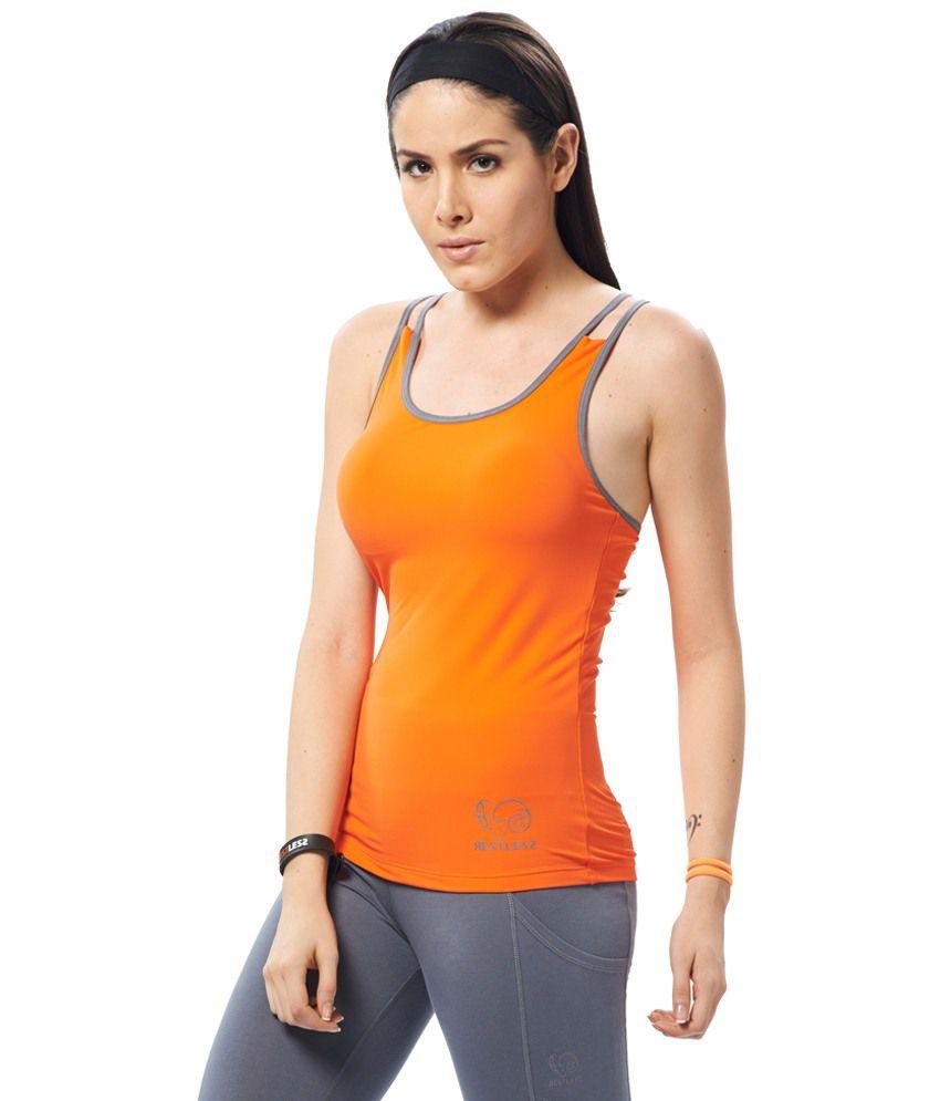 Restless Orange Stretchable Singlet
