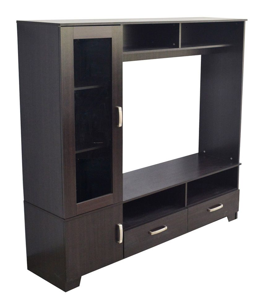 eros tv wall unit cum display cabinet table buy eros tv wall unit rh snapdeal com