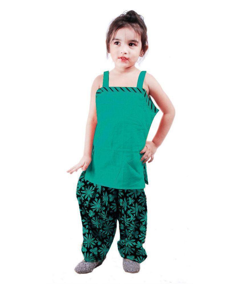 RTD Traditional Punjabi Patiala Salwar Suit For Girls - Buy RTD ...