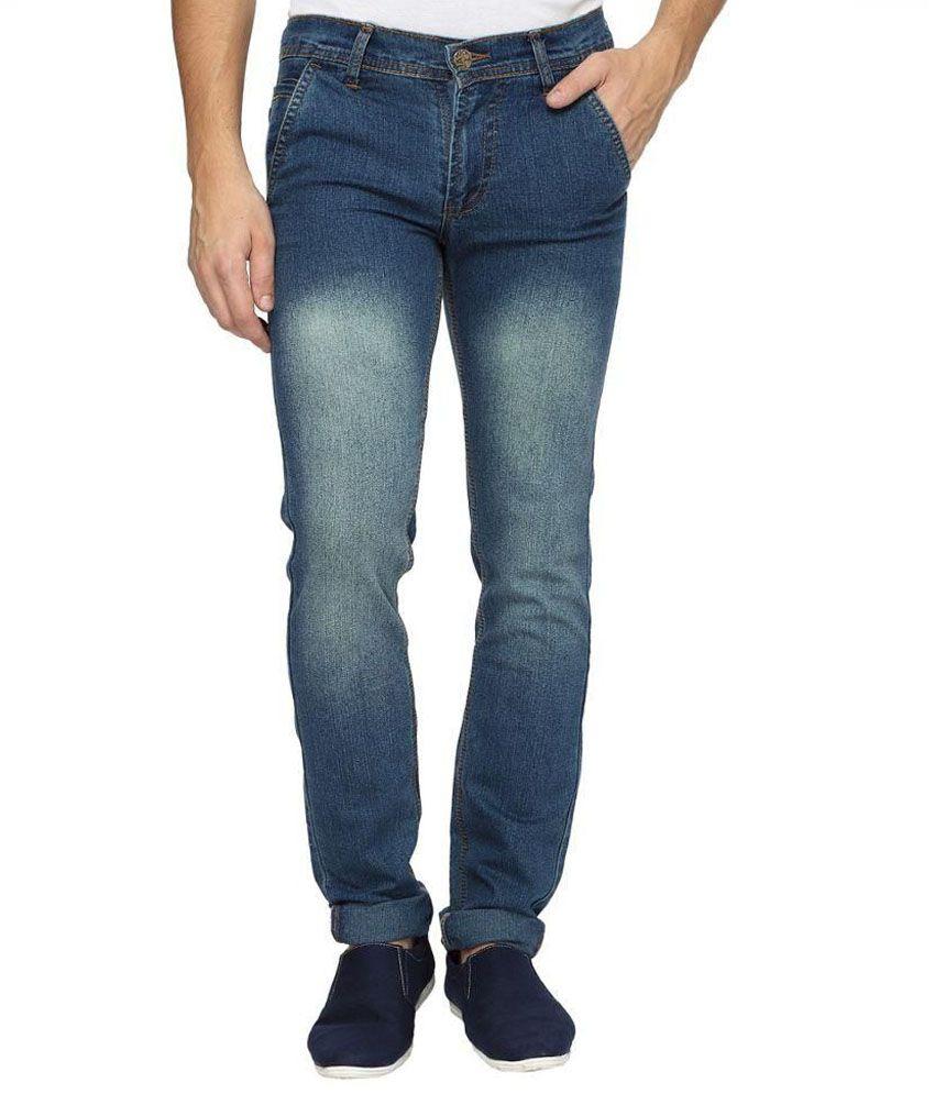 Wajbee Blue Regular Fit Jeans