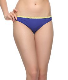 Clovia Blue Polyamide With Spandex,lace Panties