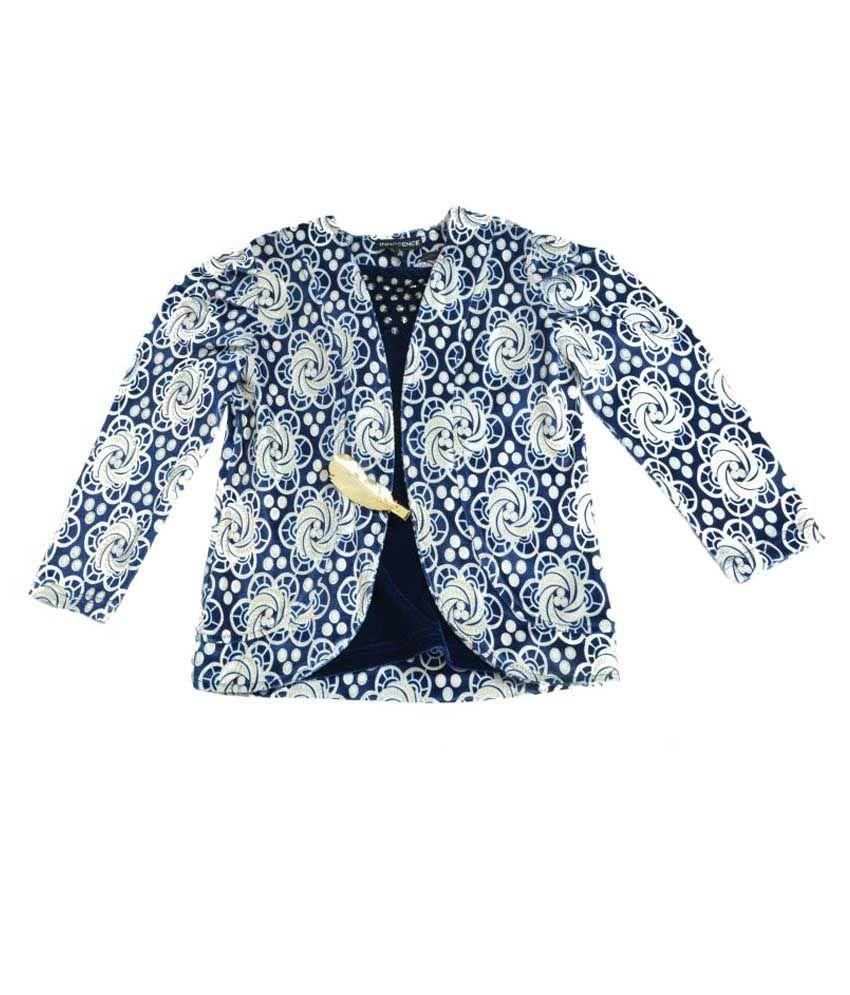 Akshadha Blue Velvet Full Sleeves Coat
