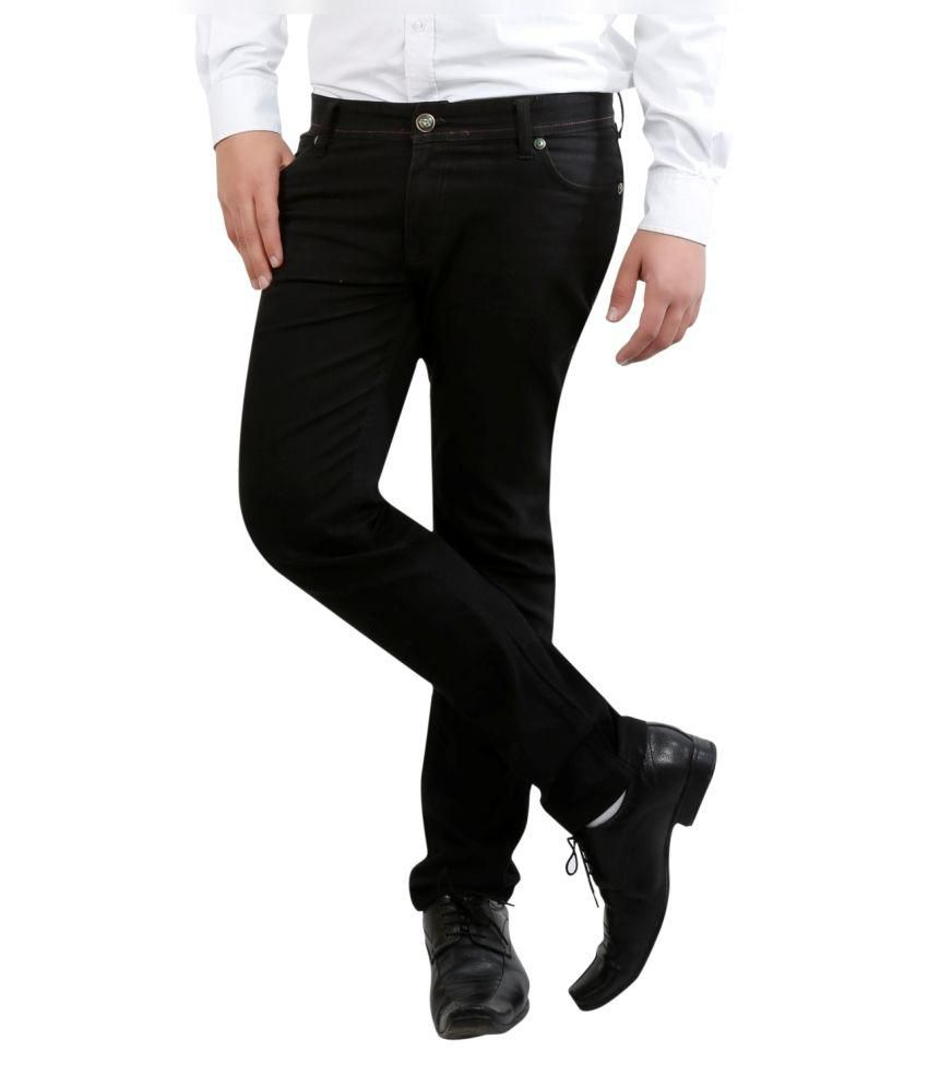 Fashion N Style Black Slim Fit Casual Flat Trouser
