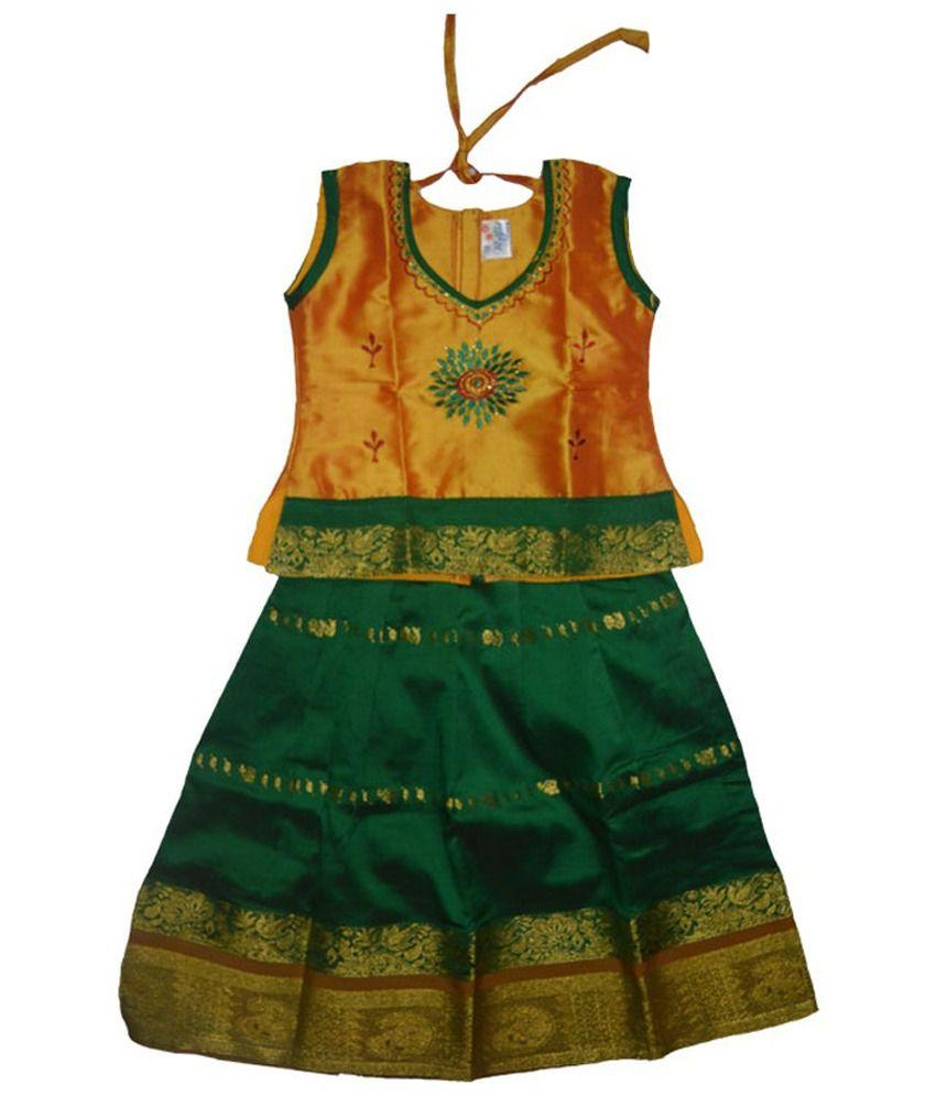 b2100fd7c2 Samudrika Pattu Pavadai - Buy Samudrika Pattu Pavadai Online at Low Price -  Snapdeal
