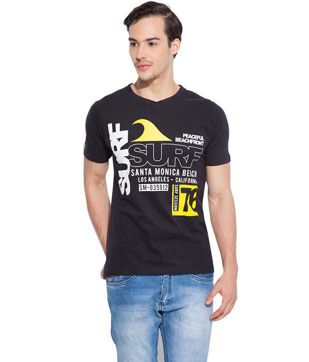 Silly People Black Cotton T-shirt