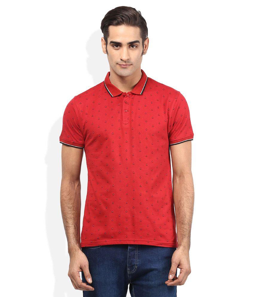 Acropolis red printed polo t shirt buy acropolis red for Polo t shirt printing