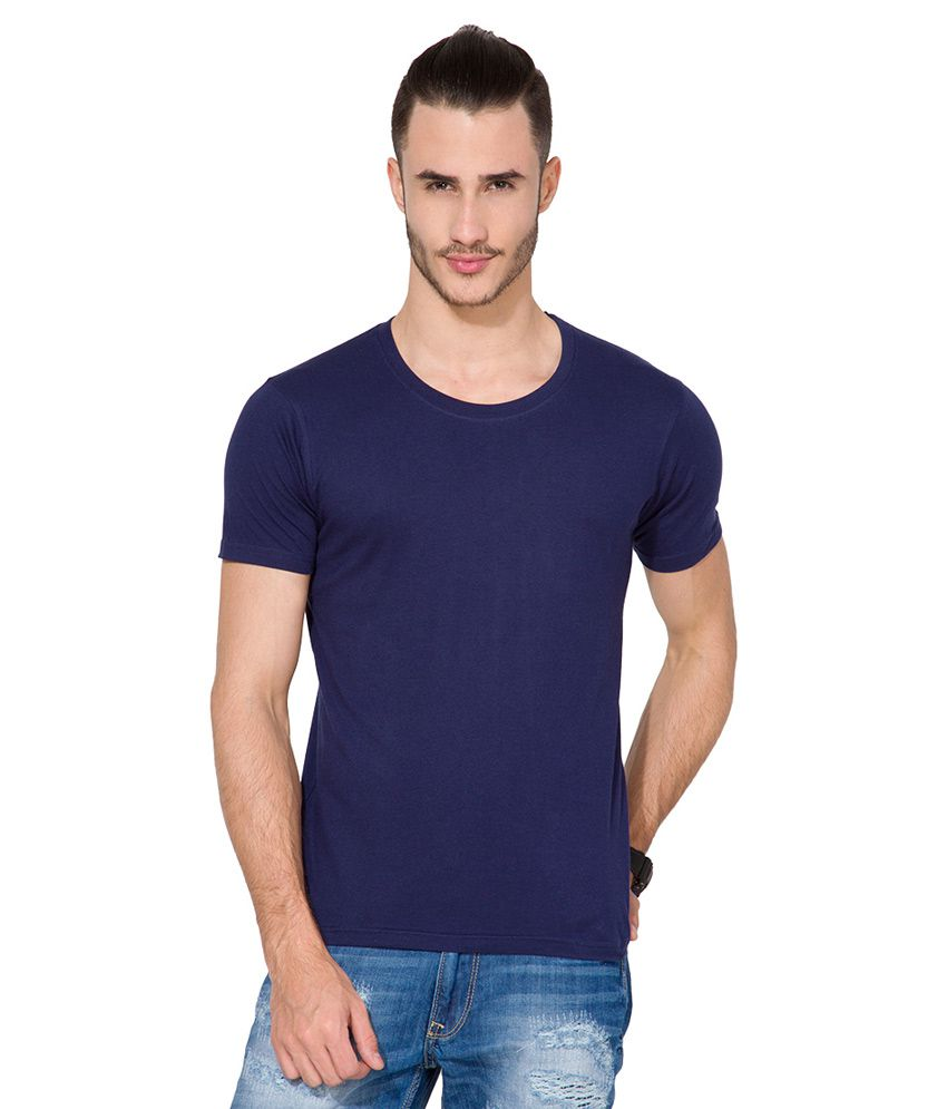 Highlander Blue Round Neck T Shirt
