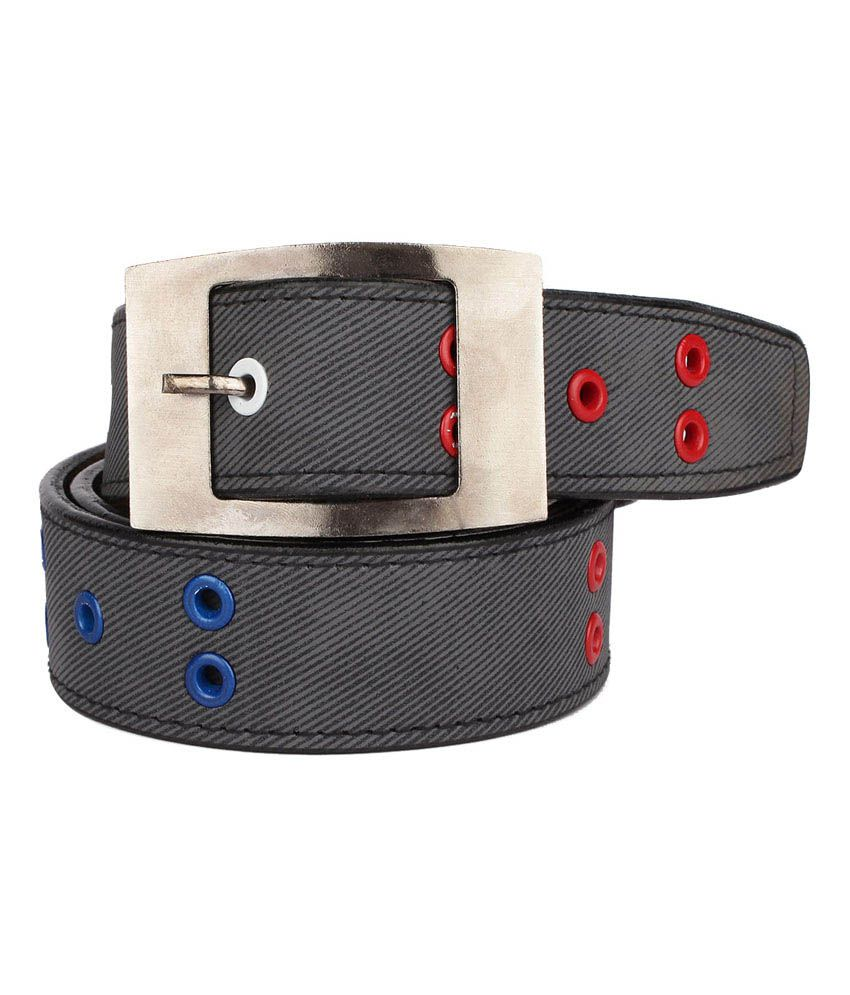 Rocksy Black Casual Wear Belt For Men