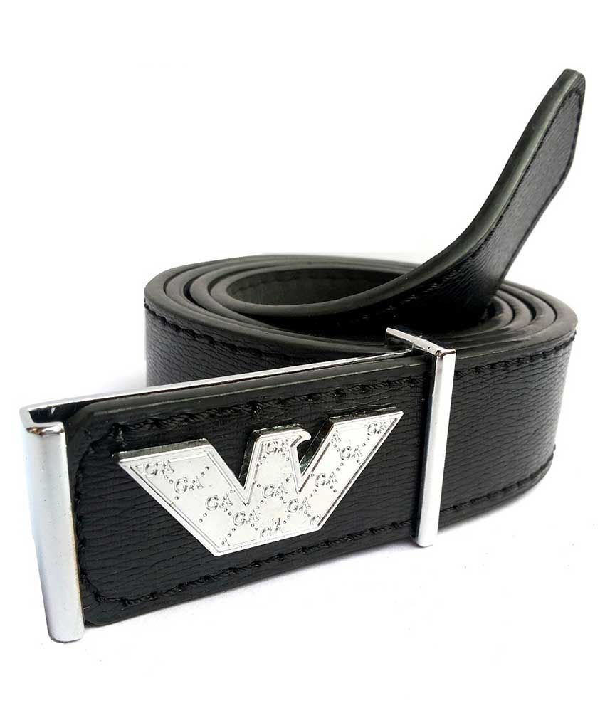 Mode Leather Autolock  Black Men Belt