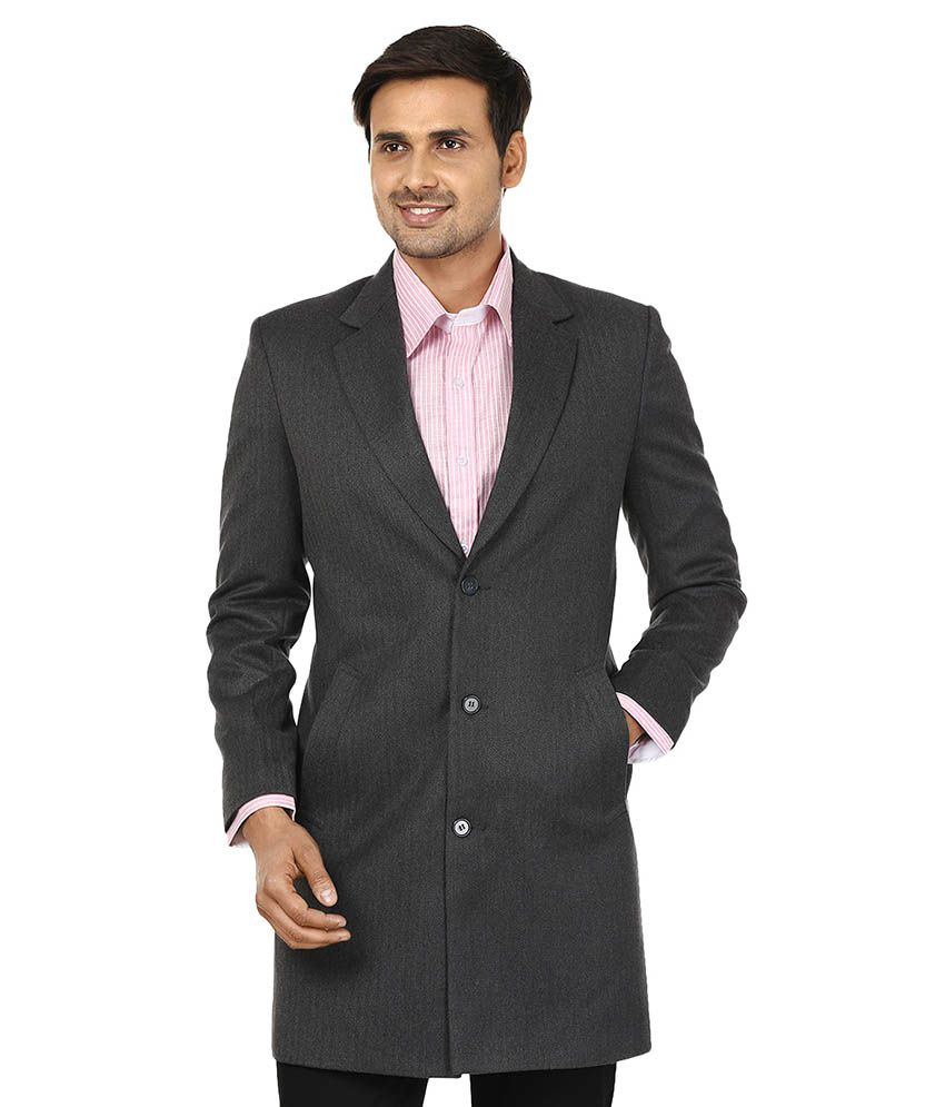 Platinum Studio Gray Woolen Long Coat