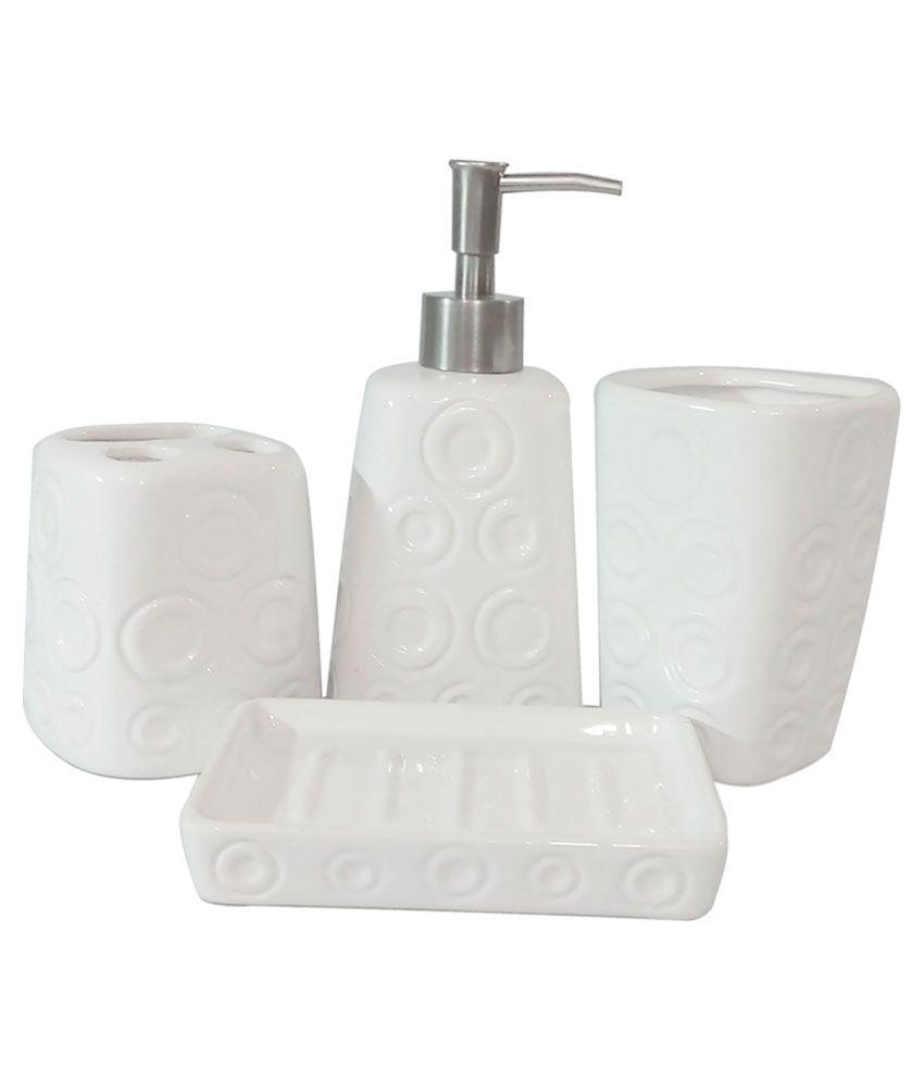 Buy Ragaashree White Ceramic Bathroom Set Online at Low Price in ...
