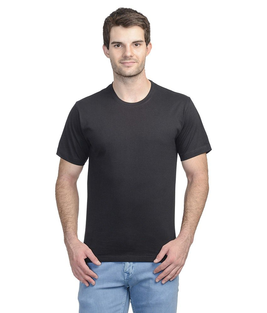 Fad Black Cotton T-shirt