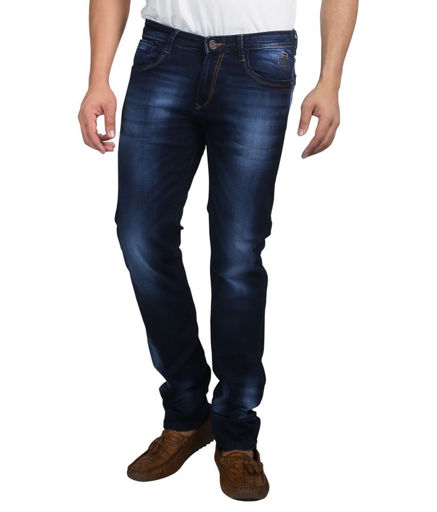 Nostrum Jeans Navy Blue Slim Fit Jeans