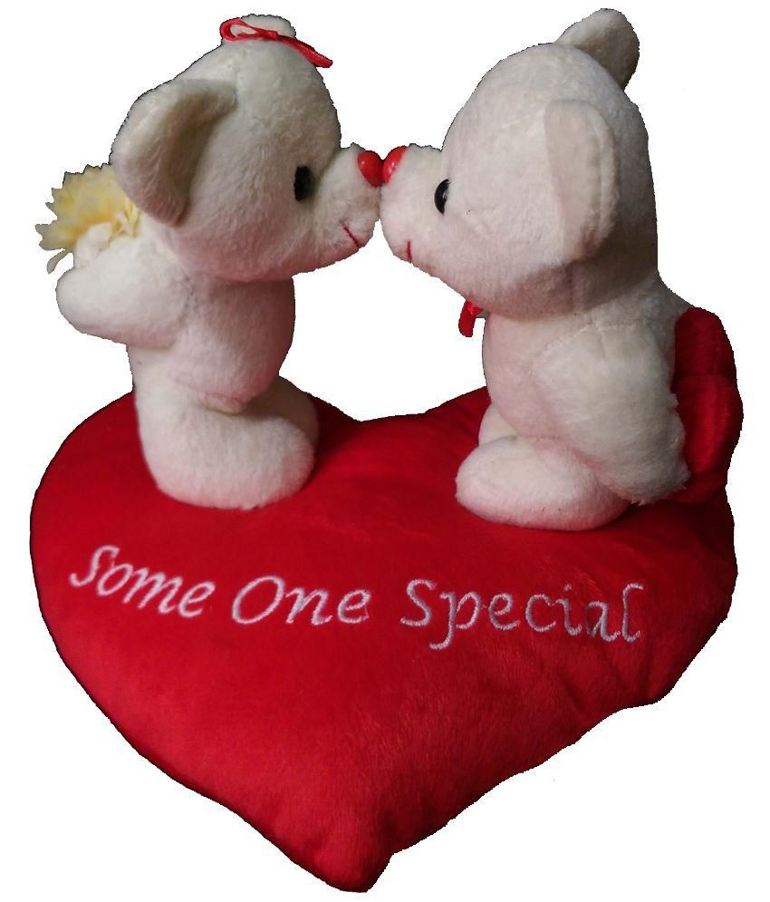 Shree Ji Red And Pink Love Bear Couple Soft Toy