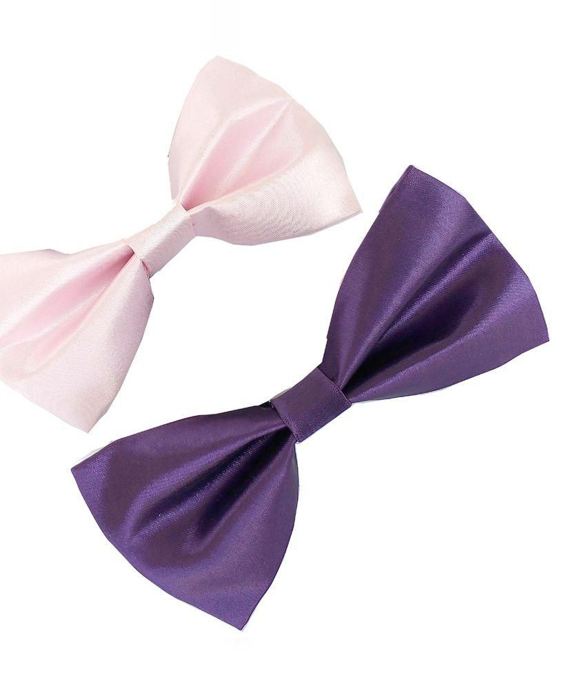 Wholesome Deal Pink And Purple Neck Bow Tie - Pack Of 2