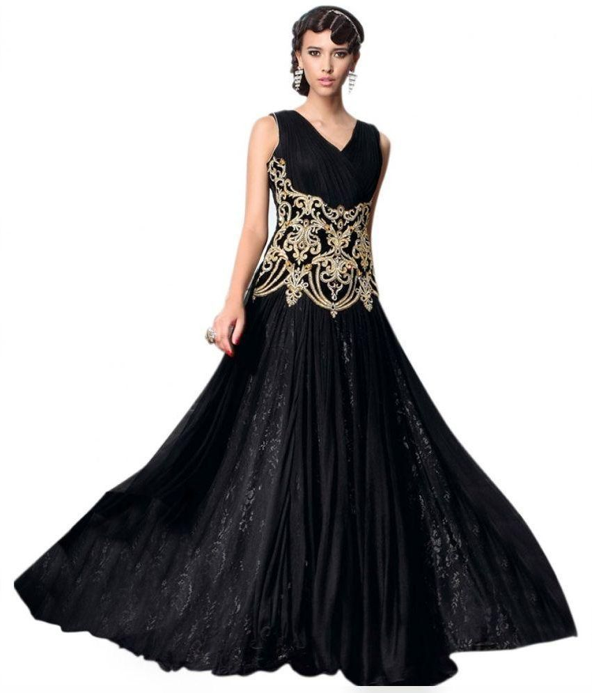 NEWLOOK Black Net Gowns - Buy NEWLOOK Black Net Gowns Online at Best ...