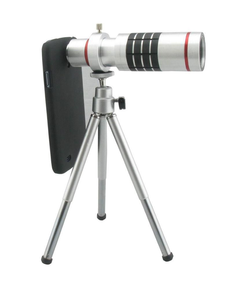 Samsung S6 18x Telescope Lens Kit Set - Zoom Lens, Back Cover & Mobile Tripod