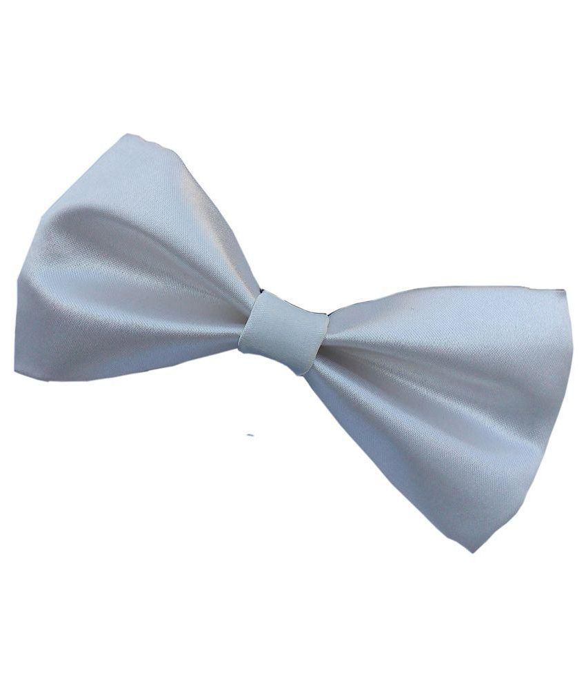 Wholesome Deal White and Blue  Neck Bow Tie - Pack of 2