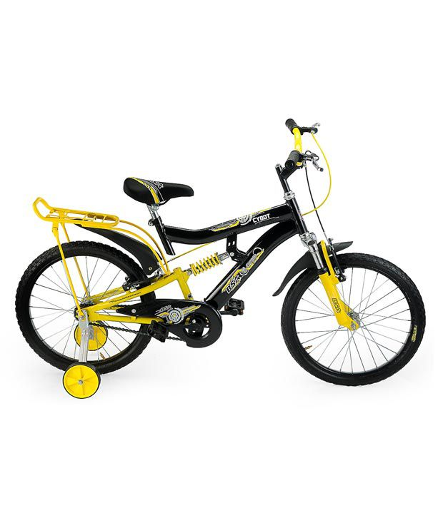 c7c64df90d7 ... BSA Cybot Bicycle (Black/Yellow) - 20 Inch Kids Bicycle/Boys Bicycle ...
