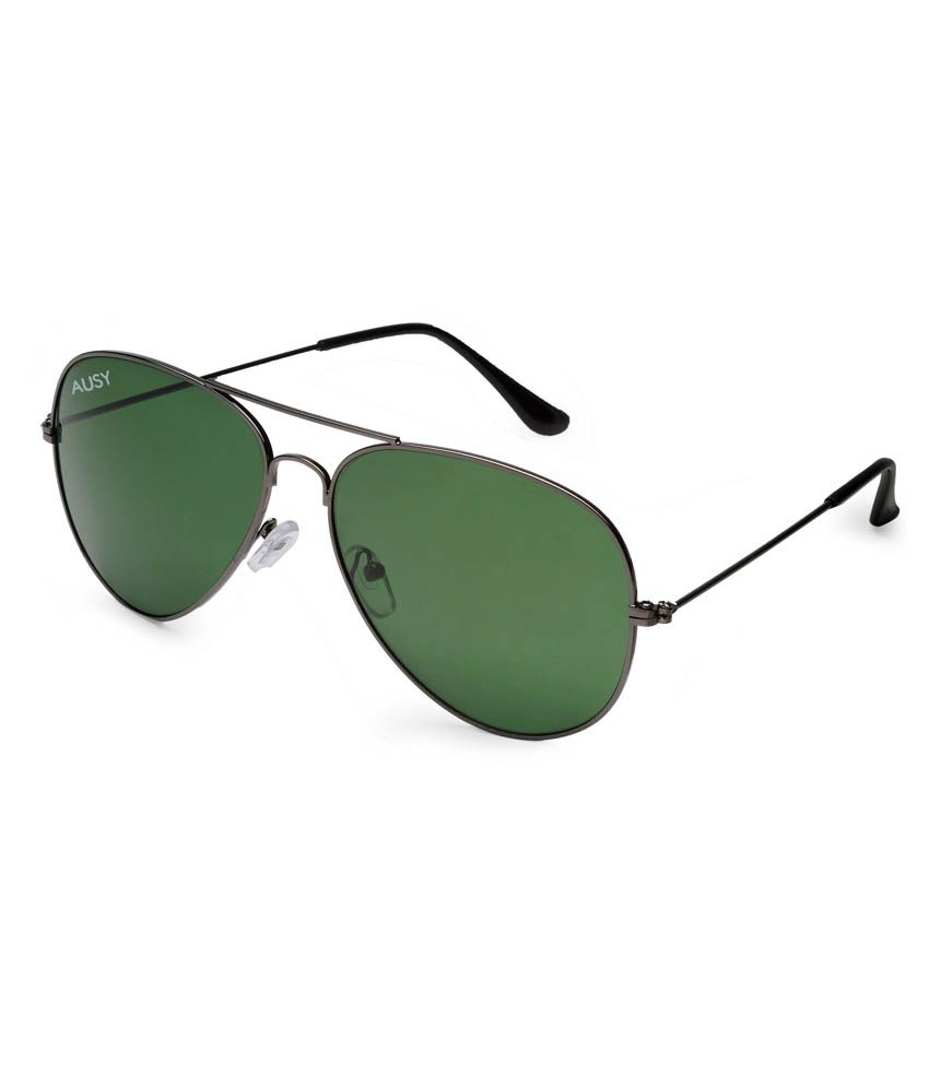 d3959c0f05 Ausy Green Lens Aviator Sunglasses For Men And Women - Buy Ausy Green Lens  Aviator Sunglasses For Men And Women Online at Low Price - Snapdeal