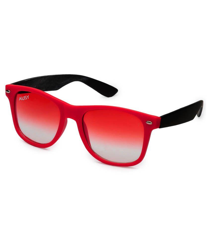 2828acec4f Ausy Red Lens Wayfarer Sunglasses For Men And Women - Buy Ausy Red Lens Wayfarer  Sunglasses For Men And Women Online at Low Price - Snapdeal