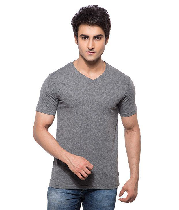 Hbhwear Grey Cotton T-shirt
