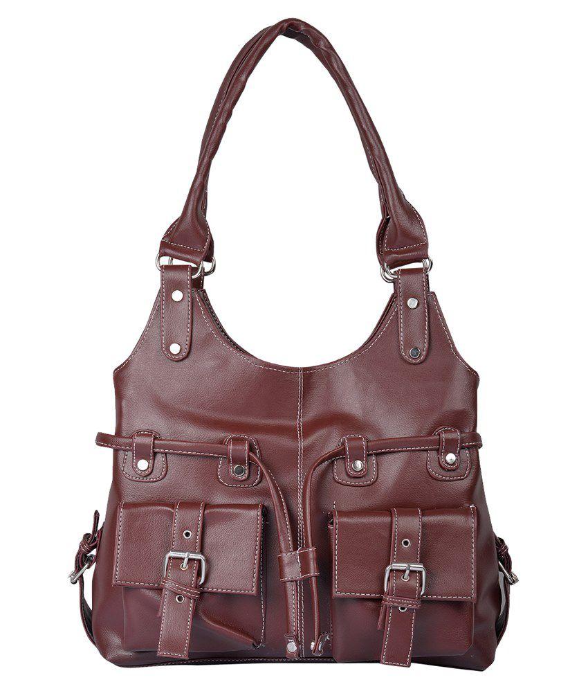 Fostelo Brown P.u. Shoulder Bags
