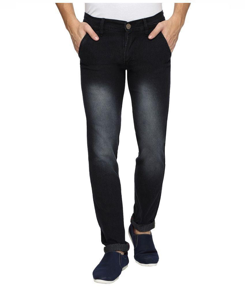 Wajbee Black Strechable Slimfit Jeans