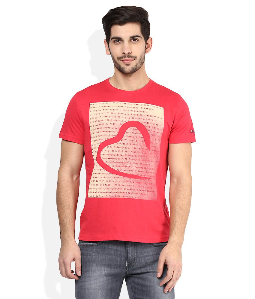 Being human red printed t shirt buy being human red for Online printed t shirts