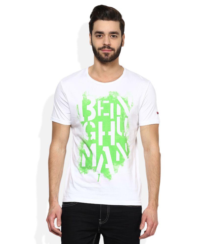 Being Human White Printed T-Shirt