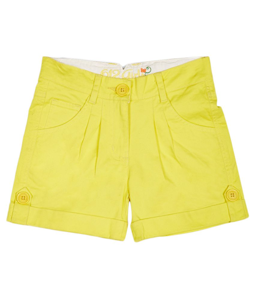 612 League Yellow Shorts