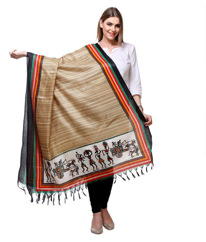 Desistudio Multi Color Bhagalpuri Silk Dupattas