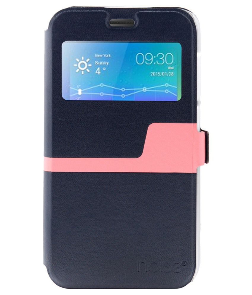 brand new 6891a 0daaf Noise Flip Cover For Lenovo Vibe K4 Note And Lenovo A7010 - Navy