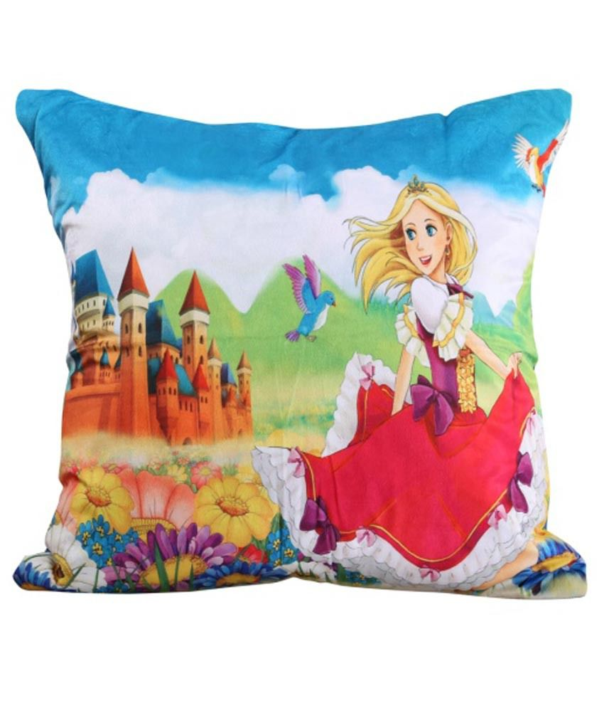 Dekor World Multicolour Printed Polyester Cushion Cover - Pack Of 2