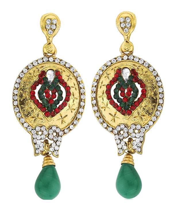 Kshitij Jewels Style Diva Alloy Drop Earrings
