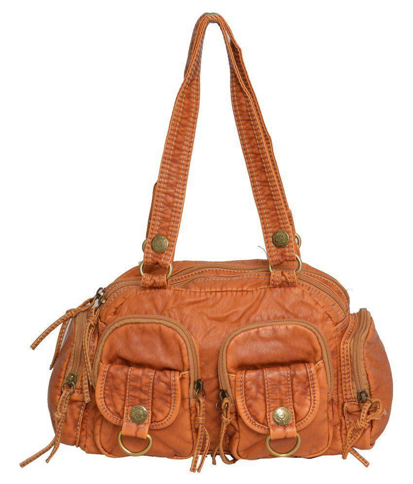 Rehan's Orange Non Leather Shoulder Bag