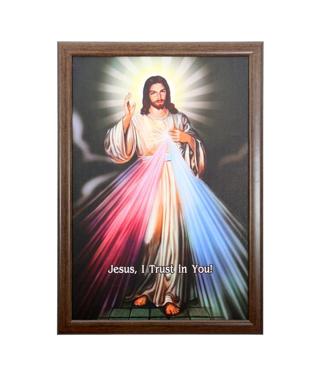 Elegant Arts And Frames Textured Divine Mercy Painting
