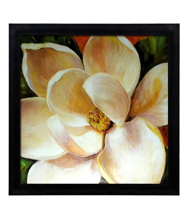 Elegant Arts And Frames Textured Magnolia Glow Painting