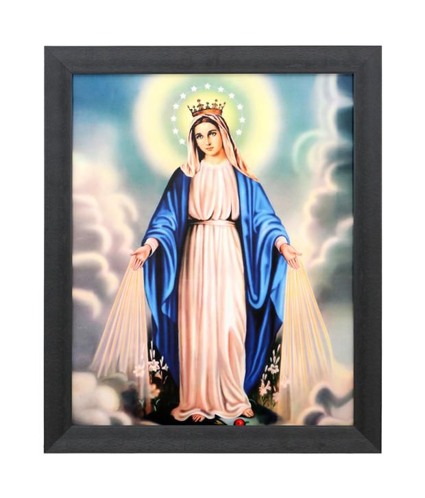 Elegant Arts And Frames Textured Maternal Heart Of Mary Painting