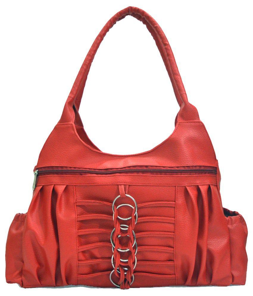 Inkdice Red Non Leather Shoulder Bag