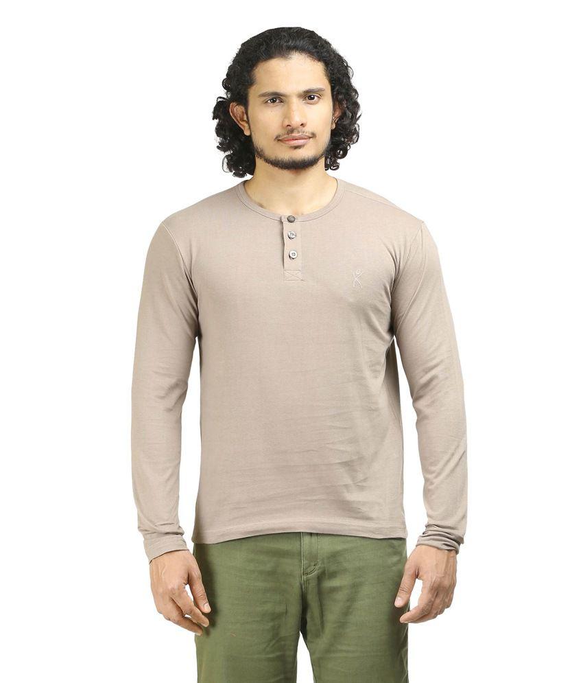 Oviyon Grey Cotton T-shirt