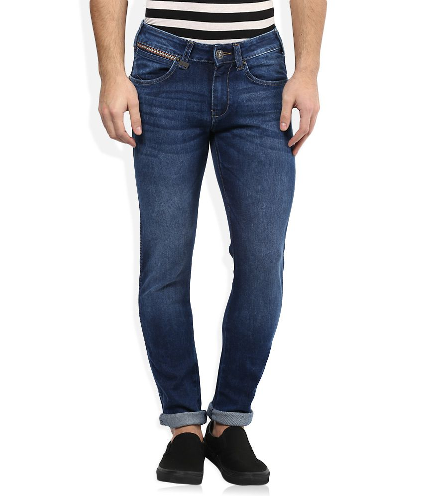 Wrangler Blue Regular Fit Jeans