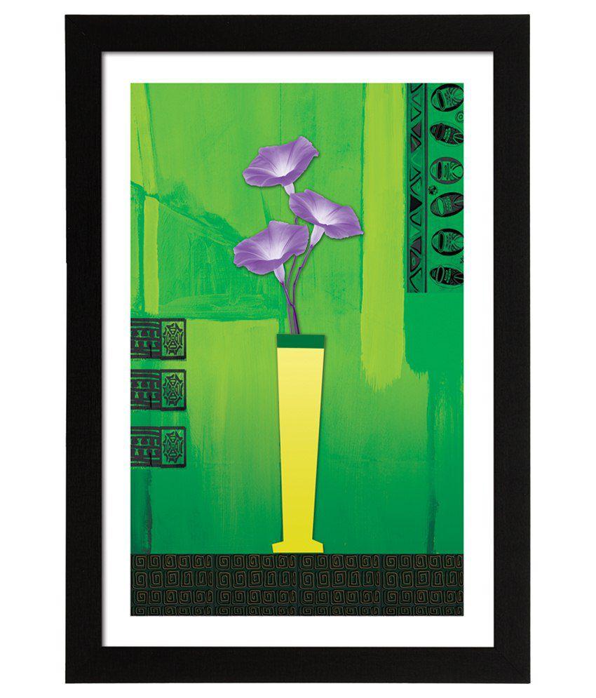 Delight Wooden Amaryllis Flower Digital Printed Uv Photo Frame
