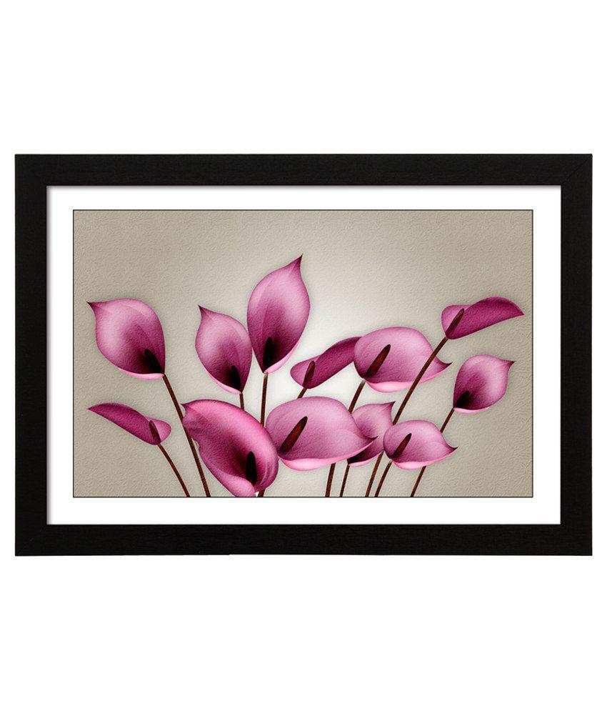 Delight Wooden Anthurium Flower Digital Printed Uv Photo Frame