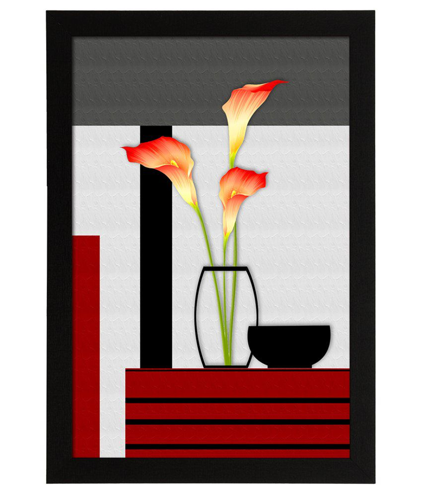 Delight Wooden Calla Flower Digital Printed Uv Photo Frame