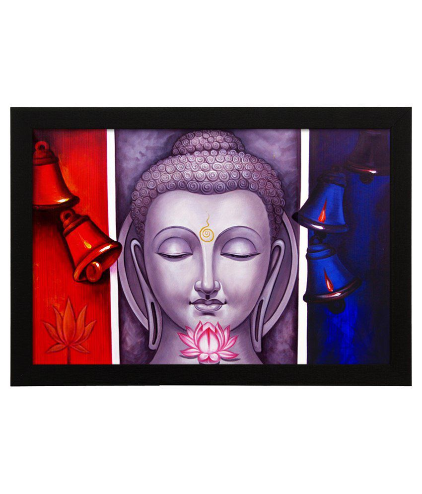 Delight Wooden God Buddha Digital Printed Uv Photo Frame