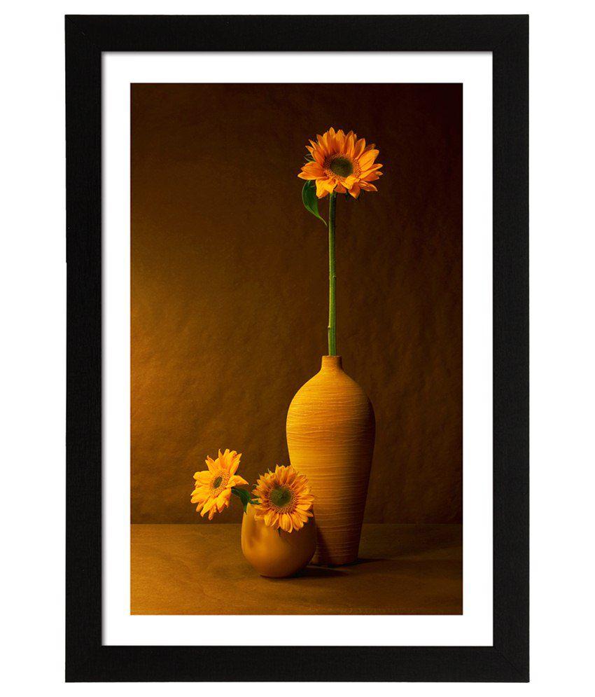 Delight Wooden Sun Flower Pot Digital Printed Uv Photo Frame