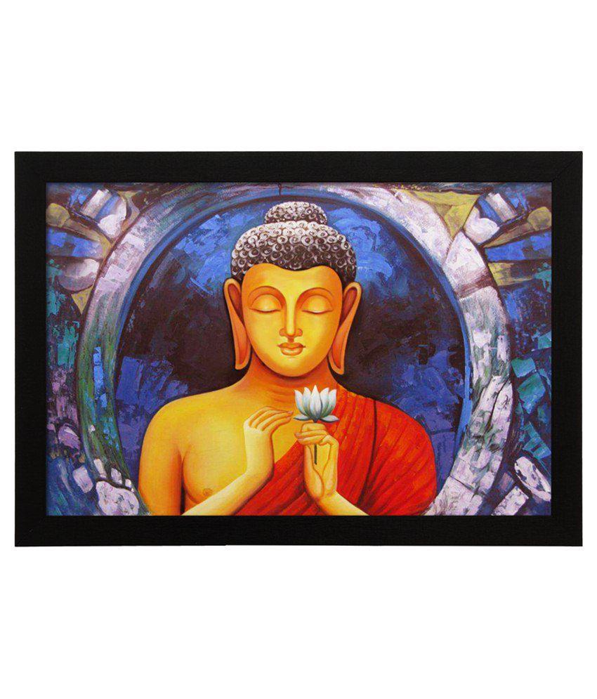 Delight Wooden Vintage Buddha Digital Printed Uv Photo Frame