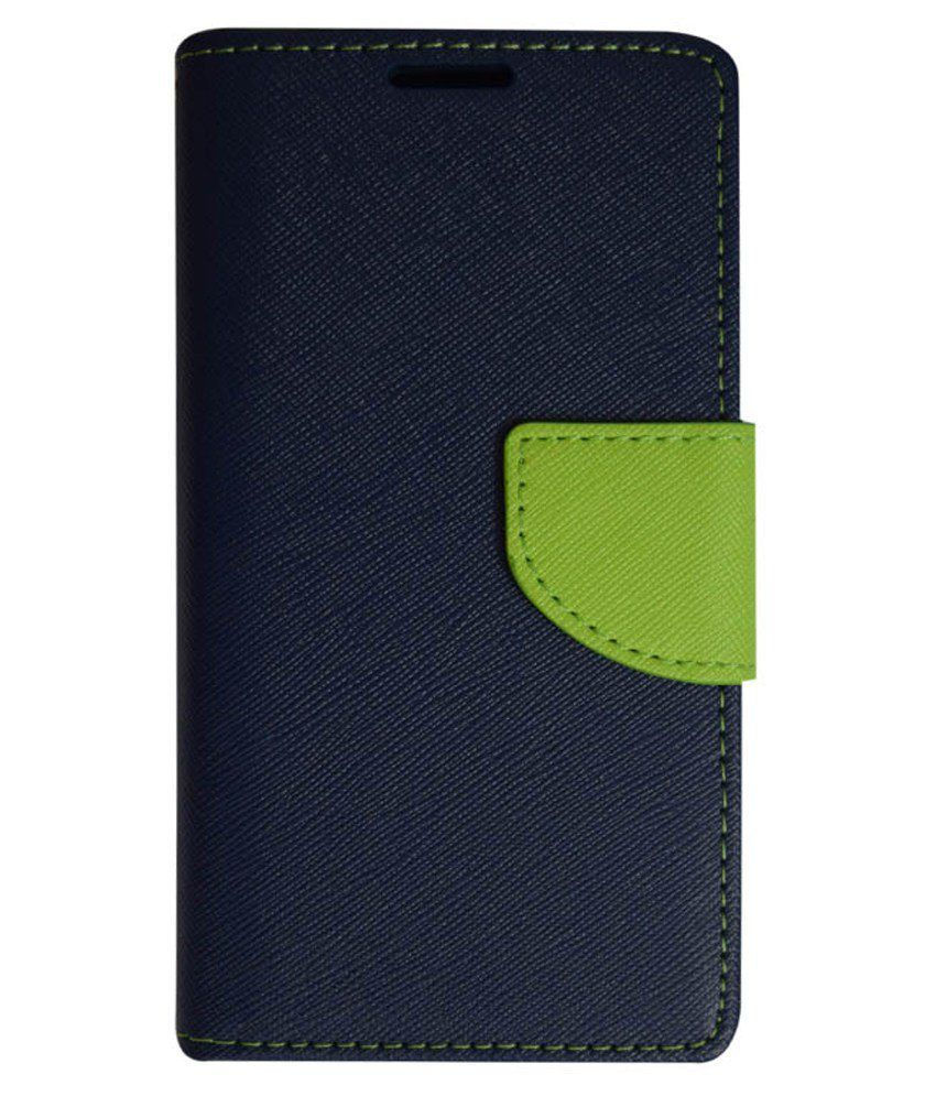Kolorfame Flip Cover For Htc One M8 - Blue